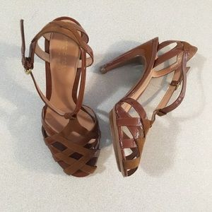 Sergio Rossi | Brown Strappy High Heels 37.5